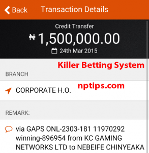 1.5 million bet9ja w