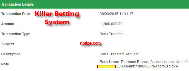 bet9ja 1.9 million withdrawal