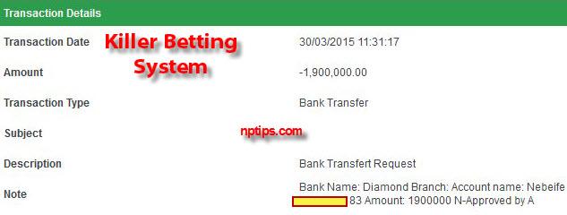 bet9ja 1.9 million withdrawal